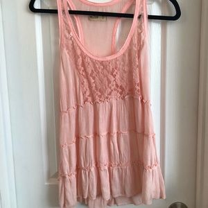 Hollister Lace Pink Tank Top